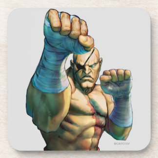 Sagat Ready to Block Drink Coaster