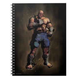 Sagat Standing Notebook
