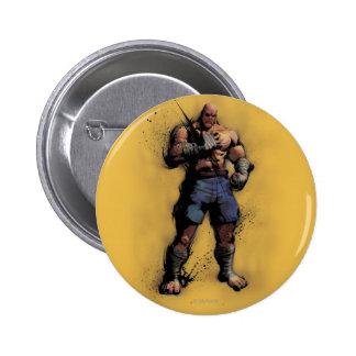Sagat Standing Pinback Button