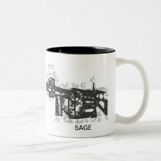 sage_2b, bullet charcaol320, bullet charcaol320... Two-Tone coffee mug