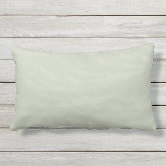 Sage and Cream Marbled Outdoor Lumbar Pillow