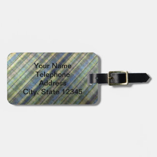 Sage and Lavender Stripes Tags For Luggage