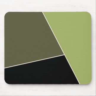 Sage and Lichen Green Color Block Mouse Pad