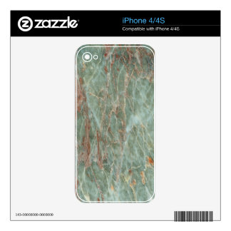 Sage and Rust Marble Decals For The iPhone 4S