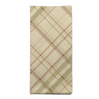 Sage and Tan Soft Plaid Cloth Napkin