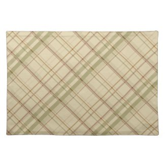 Sage and Tan Subtle Plaid Cloth Placemat