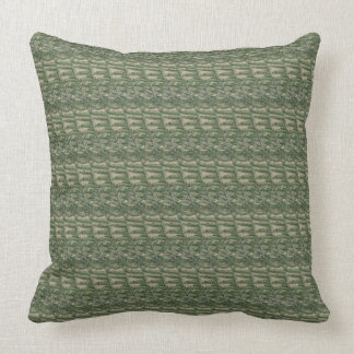 Sage and Taupe Herbal Print Throw Pillow