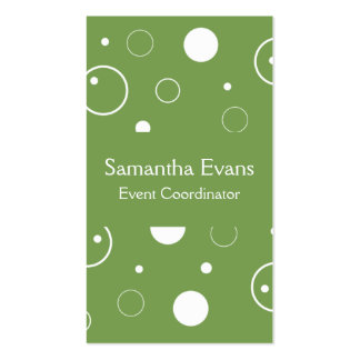 Sage and White Bubbles Business Card