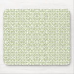 Sage and White Soft Patterned Mousepad