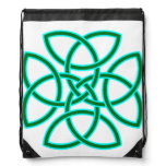 Sage Bright Green Ornate Triquetra Cross Backpack