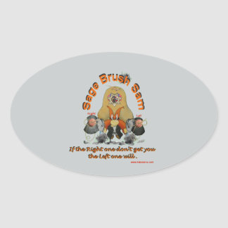 Sage_Brush_Sam_Sheriff Oval Sticker