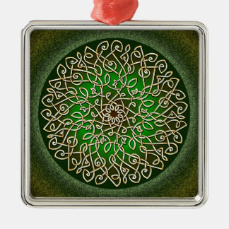 Sage Celtic Burst Metal Ornament