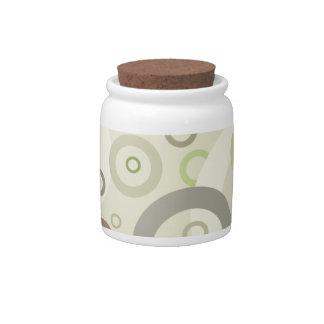 Sage Circles Candy Jar