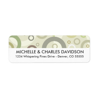 Sage Circles Customized Return Address Labels