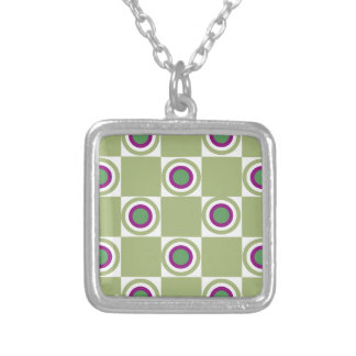 Sage Circles Silver Plated Necklace