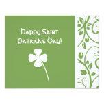 Sage Clover Floral Vine Saint Patrick's Day Note Personalized Invitations