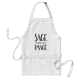 Sage Comme Une Image - Funny French Expression Adult Apron