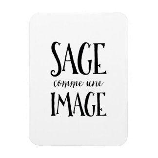 Sage Comme Une Image - Funny French Expression Magnet