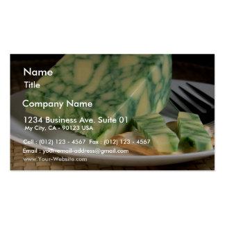 Sage Derby Cheese Business Card