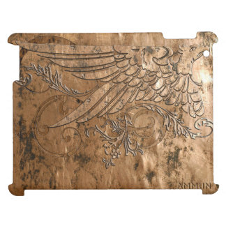 Sage Eagle Tooled Copper Print iPad iPad Covers