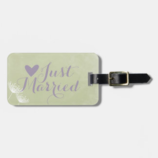 Sage Floral Honeymoon Luggage Tags