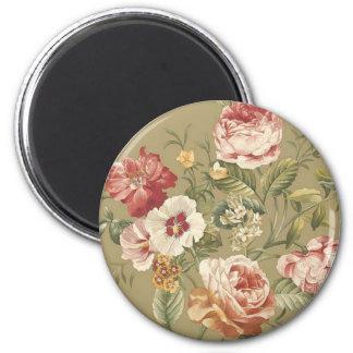 Sage Floral Roses Fridge Magnet