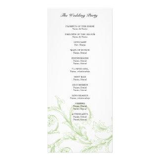Sage Floral Wedding Program Rack Card