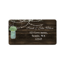 sage flowers mason jar address label