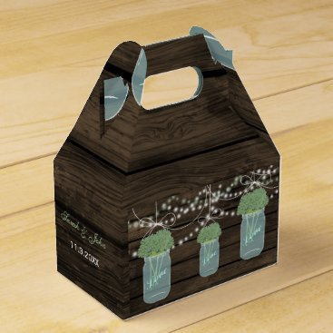 sage flowers mason jar wedding favor box