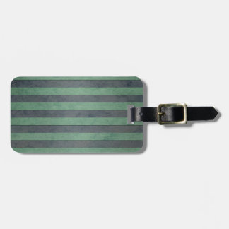 Sage Green and Grey Stripes Pattern Tags For Bags