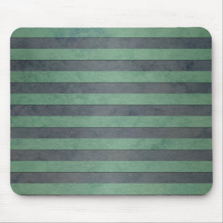 Sage Green and Heather Grey Stripes Pattern Mouse Pad