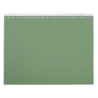 Sage Green Backgrounds on a Calendar