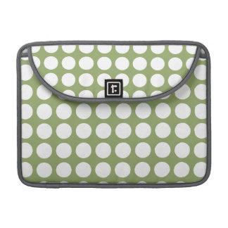 Sage Green & Big White Polka Dots MacBook Pro Sleeve