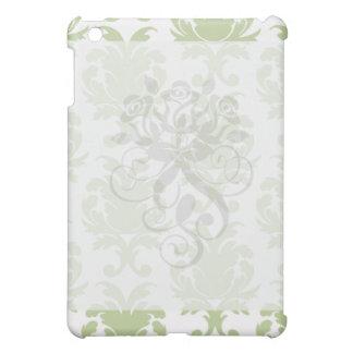 sage green bold large damask pern iPad mini cases