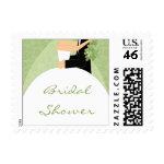 Sage Green Bridal Shower Postage Stamps