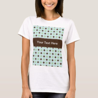 Sage Green & Brown Pattern T-Shirt