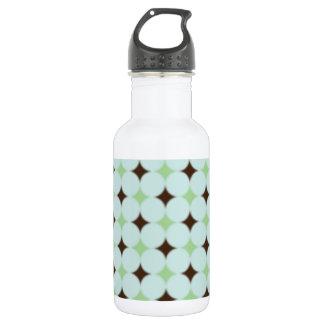 Sage Green & Brown Pattern Water Bottle