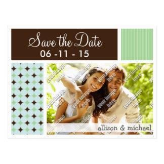 Sage Green & Brown Postcard