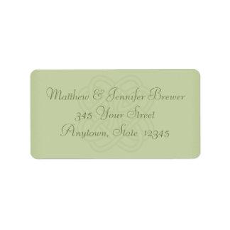 Sage Green Celtic Knot Envelope Address Labels