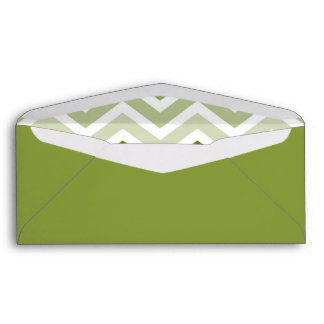 Sage Green Chevron Ombre ZigZag Pattern Envelope