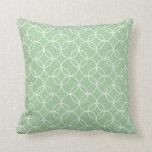 Sage Green Circle Pattern Throw Pillow