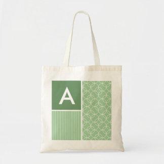 Sage Green Circles; Circle Budget Tote Bag