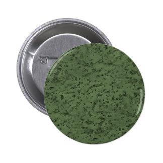 Sage Green Cork Look Wood Grain 2 Inch Round Button