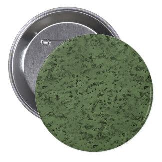 Sage Green Cork Look Wood Grain 3 Inch Round Button