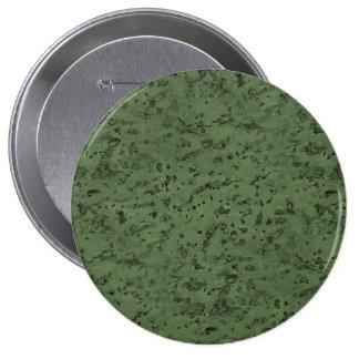 Sage Green Cork Look Wood Grain 4 Inch Round Button