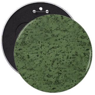 Sage Green Cork Look Wood Grain 6 Inch Round Button