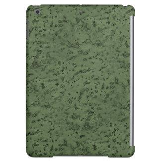 Sage Green Cork Look Wood Grain Case For iPad Air
