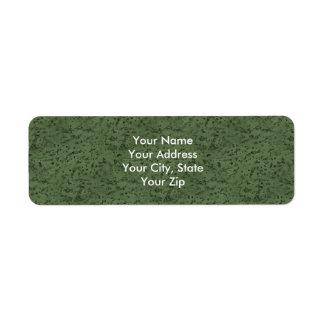 Sage Green Cork Look Wood Grain Label