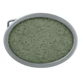 Sage Green Cork Look Wood Grain Oval Belt Buckle