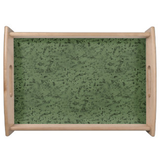 Sage Green Cork Look Wood Grain Serving Tray